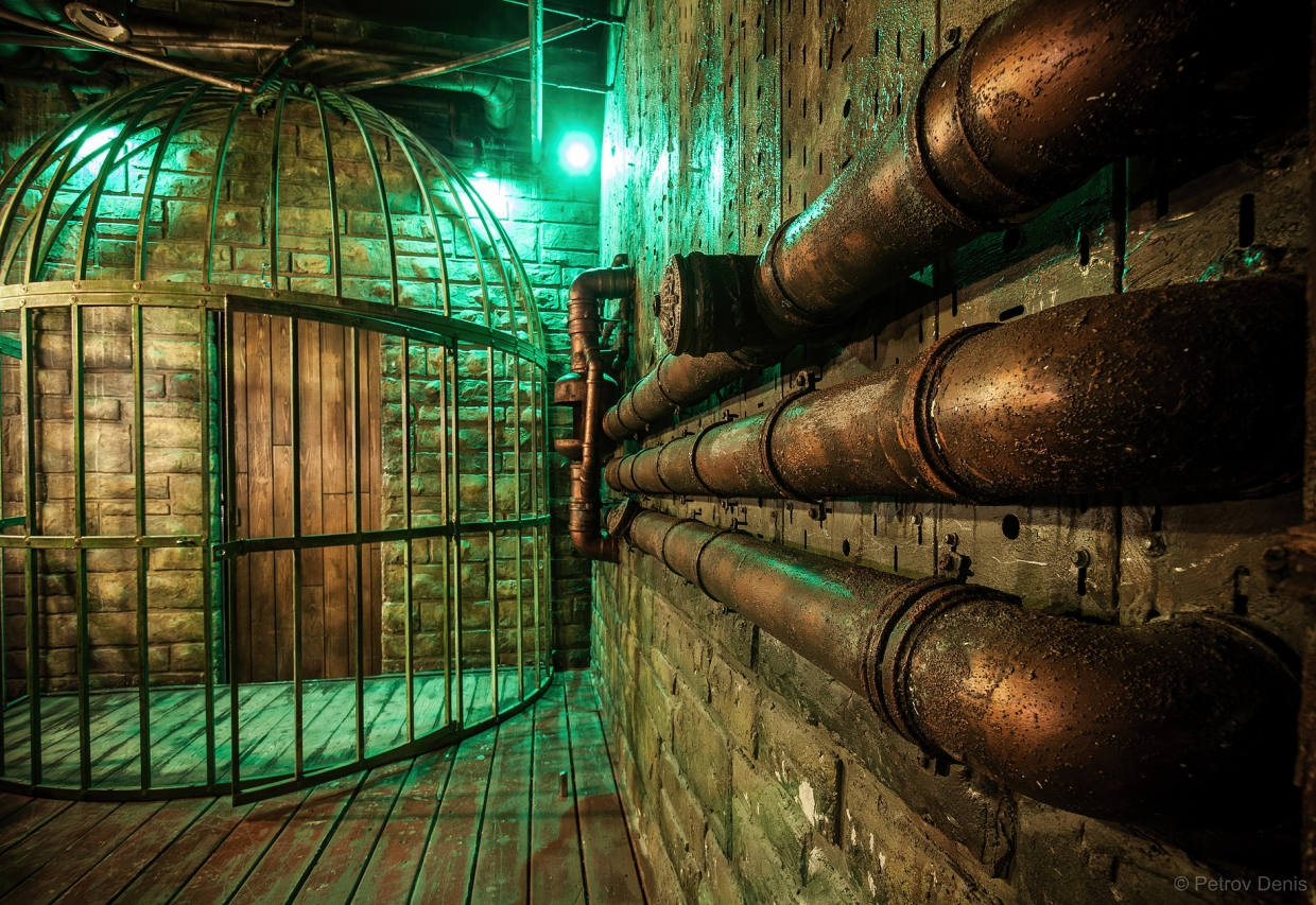 Escape Game Steampunk Circus - 2 identical rooms, Out Of The Box. Tel Aviv.